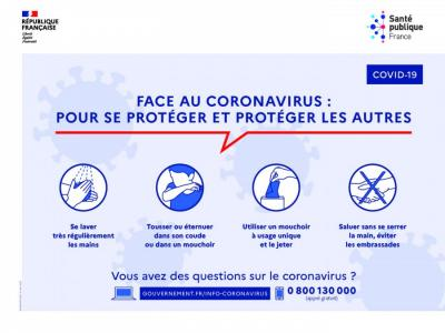 MESURES SANITAIRES RELATIVES A LA PROTECTION CONTRE LE COVID 19